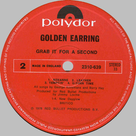 golden earring lp discography