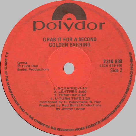 south africa golden earring lp discography